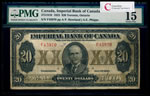 The Imperial Bank of Canada $20 1923 Howland, l. PMG F-15