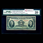 The Imperial Bank of Canada $5 1934 Phipps l. PMG VF-20