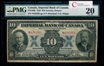 The Imperial Bank of Canada $10 1923 Howland, l. PMG VF-20