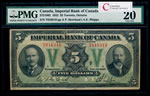 The Imperial Bank of Canada $5 1923 Howland, l. PMG VF-20