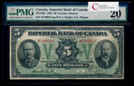 The Imperial Bank of Canada $5 1923 Rolph, l. PMG VF-20