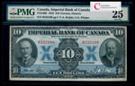 The Imperial Bank of Canada $10 1923 Rolph, l. PMG VF-25