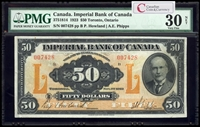 The Imperial Bank of Canada $50 1923 Howland, l. PMG VF-30