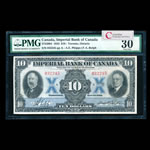 The Imperial Bank of Canada $10 1933  PMG VF-30