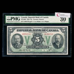 The Imperial Bank of Canada $5 1923 Rolph, l. PMG VF-30
