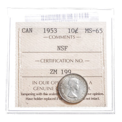 10 cent 1953 NSF   ICCS MS-65