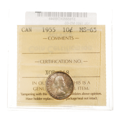 10 cent 1955  ICCS MS-65