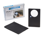 Credit Card-Sized LED Magnifier - 3x Magnification