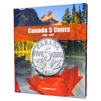 Vista Coin Album: Canada 5 Cents, 1858 - 1952