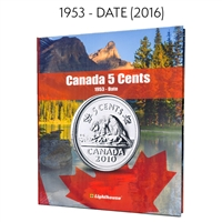 Vista Coin Album: Canada 5 Cents, 1953 - Date