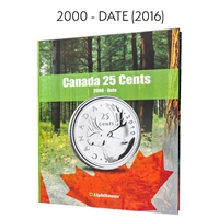 Vista Coin Album: Canada 25 Cents, 2000 - Date