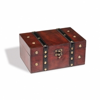Rustika Genuine Wood Treasure Chest