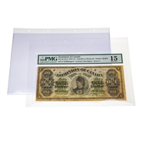 Refill Pages for Currency Albums For Graded Banknotes (10 pack)