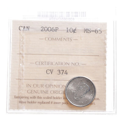 10 cent 2006P  ICCS MS-65