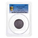 25 cent 1906 Small Crown PCGS aG-3
