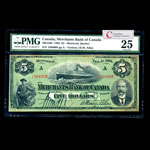 The Merchants Bank of Canada $5 1906   PMG VF-25