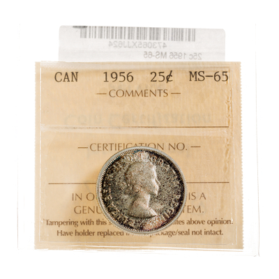 25 cent 1956  ICCS MS-65
