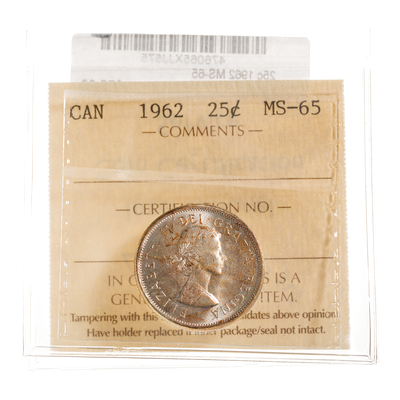 25 cent 1962  ICCS MS-65