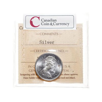 25 cent 1968 Silver ICCS MS-66