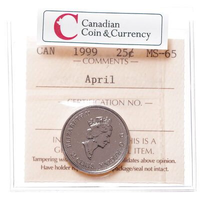 25 cent 1999 April ICCS MS-65