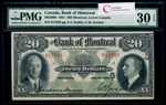 The Bank of Montreal $20 1931  PMG VF-30