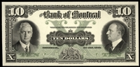 The Bank of Montreal $10 1935  UNC-60