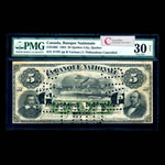 Le Banque Nationale $5 1883 Cancelled PMG VF-30