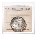 50 cent 1937  ICCS MS-63