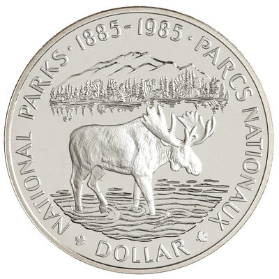 $1 1985 Proof Silver Coin - National Parks Centennial
