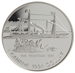 $1 1991 Proof Silver Coin - 175th Anniversary of the Frontenac