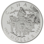$1 1994 Proof Silver Coin - R.C.M.P. Northern Dog Team Patrol
