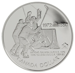 $1 1997 Proof Silver Coin - 25th Anniversary of the 1972 Canada/Russia Hockey Series