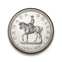 $1 1973 Silver Coin - Royal Canadian Mounted Police Centennial