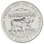 $1 1985 Brilliant Uncirculated Silver Coin - National Parks Centennial