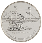 $1 1991 Brilliant Uncirculated Silver Coin - 175th Anniversary of the Frontenac