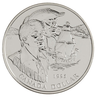 $1 1995 Brilliant Uncirculated Silver Coin - 325th Anniversary of the Hudson's Bay Company