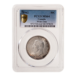 50 cent 1942 Wide Date PCGS MS-64
