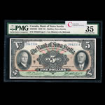The Bank of Nova Scotia $5 1929 Type 1 McLeod PMG VF-35