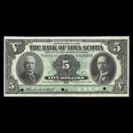The Bank of Nova Scotia $5 1918