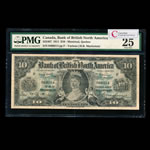 The Bank of British North America $10 1911 Mackenzie, r. PMG VF-25