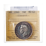 50 cent 1946 Wide Date ICCS MS-63
