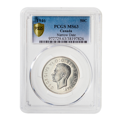 50 cent 1947 Curved 7 Rgt PCGS MS-63