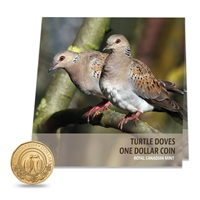 2014 $1 Two Turtle Doves Special Collector Issue Coin