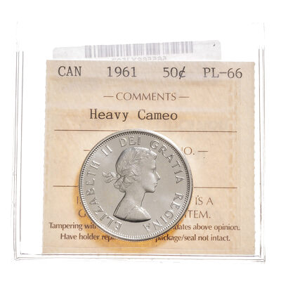 50 cent 1961 Heavy Cameo ICCS PL-66