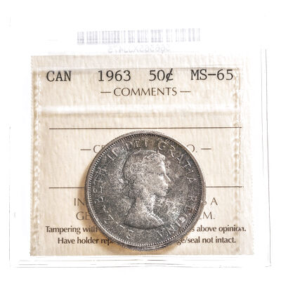 50 cent 1963  ICCS MS-65