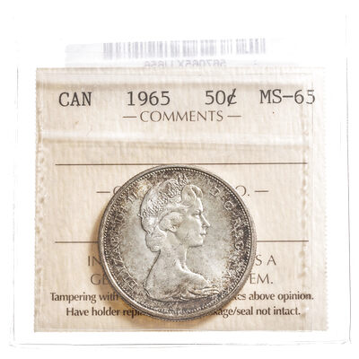 50 cent 1965  ICCS MS-65