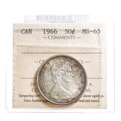 50 cent 1966  ICCS MS-65