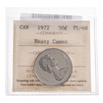 50 cent 1972 Heavy Cameo ICCS PL-66