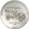 2002 10 Francs Historical Cars: 1905 Buick Model C (Congo) - Pure Silver Coin