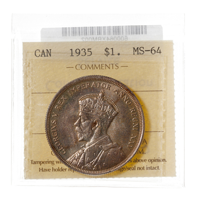 1 Dollar 1935  ICCS MS-64